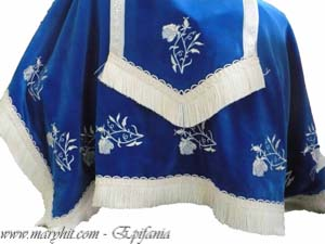 coatings , blue , church, embroidery, velvet tablecloth, tablecloth altar , clothes, towel , roses